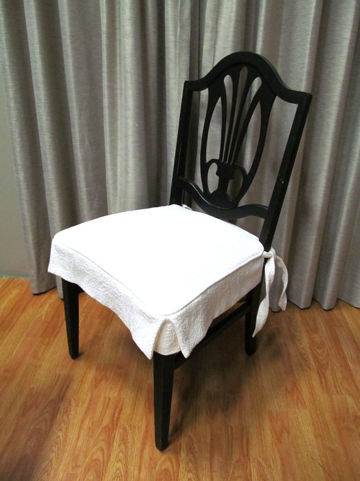 Dining Chair Seats 5 Tips Chameleon Style174 : white slipcover from www.chameleonstyle.com size 524 x 699 jpeg 245kB